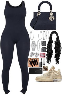 Baddie Outfits Casual, Swag Outfits For Girls, Cute Swag Outfits, Couple Outfits, Teen Fashion Outfits, Black Girl Fashion, Look Fashion, Cute Simple Outfits, Cute Birthday Outfits