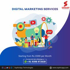 Digital Marketing Services Starting from RS: 15000/Month For more Information WhatsApp us @ +91 93 98 97 26 30 www.sophicapp.com #digitalmarketingcompany #bestdigitalmarketingagency #BesDigitalMarketingAgencyinhyderabad #DigitalMarketingCompanyHyderabad #digitalmarketingservices #topdigitalmarketingservices #BestDigitalMarketingServicesinHyderabad Like Facebook, Digital Marketing Services, Web Application, App Development, Mobile App, Social Media, Technology, Design, Tech