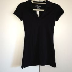 NWT black collared button up shirt, size Small This black Ambiance collared button up top is New With Tags from Riverland and is a size small. Perfect to dress up or down. Feel free to leave me any questions/offers<3 Riverland Tops Button Down Shirts