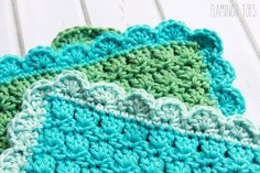 Scallop Crochet Edging #followforcrochet #follow_crochet #dish_cloth #crochet_diy