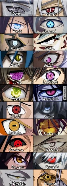 Anime eyes which one would you pick and want to be?