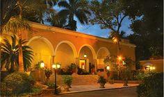 """The Main Plantation House or """"Casco"""" of Mexican hacienda turned hotel, Hacienda Chichen Resort & Yaxkin Spa, Chichen Itza, Yucatan, Mexico"""