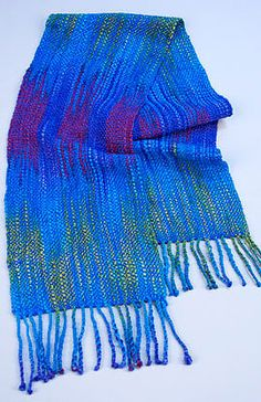 Ikat Scarf ... various information for warp-painting on this webpage