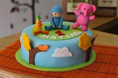 #sleepybird, #elle y #pato en este #ponque de #Pocoyo!   www.mocka.co  #mocka #pasteleria #cakeshop #birthdaycake #torta #pastel #cake #tortasinfantiles #ponquesinfantiles #ponquecumpleanos