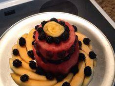 Fresh, raw fruit cake