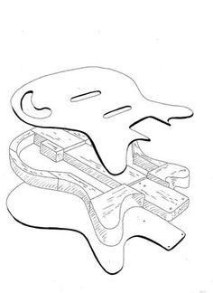 Building a Danelectro style body for electric guitar. Guitar Stand, Cigar Box Guitar, Cajon Drum, Telecaster Thinline, Guitar Diy, Guitar Parts, Guitar Building, Custom Guitars, Guitar Design
