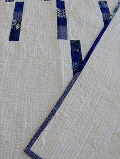 Blue Spring Rain Handmade Quilt and Original Design by Quilting Jetgirl