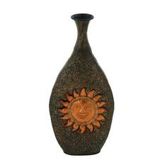 Cole & Grey Metal Sun Vase