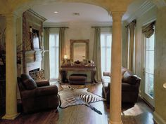 Luxury Master Bedroom Sitting Area with Fireplace | Plan 020S-0004 | House Plans and More