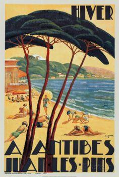 Antibes in Winter, c.1930 Kunstdruck