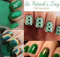 St. Patrick's Day nails.