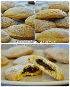 Dischi di frolla ripieni Biscotti, Italian Recipes, Italian Foods, Gelato, Hot Dog Buns, Hamburger, Pancakes, Muffin, Sweets