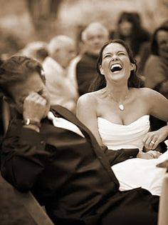 Love these candid shots of the couple laughing during toasts!!