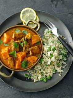 Sweet Potato and Tofoo Curry with Cauli Rice