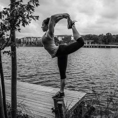 Dancer Pose on the Lake #yoga #balance #whenitcounts