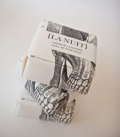 vintage print inspired packaging; excellent use of white space #packaging #design #branding