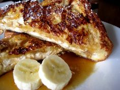 carmelized stuffed french toast with challah bread.
