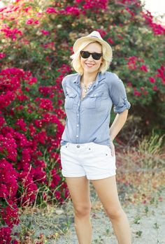 Chambray white denim Kacee from Life with Lipstick On