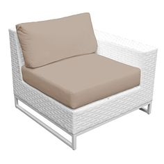 TK Classics TKC047b-LRAS-WHEAT Miami Left Arm Sofa and Right Arm Sofa with 2 Covers: Sail White and