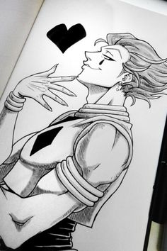 Naruto Drawings, Art Drawings Sketches Simple, Cool Drawings, Anime Character Drawing, Manga Drawing, Drawing Hair, Drawing Faces, Drawing Tips, Hisoka