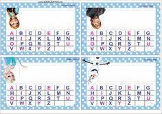 Crachá de Mesa com Alfabeto Frozen Uma Abertura Congelada