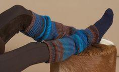 Book Beginners 1 Autumn / Winter | 11: Woman Leg Warmers | Blue-Brown
