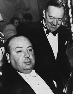 Alfred Hitchcock and Stan Laurel