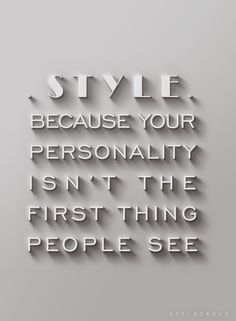 First Impressions are always the most important, and the way you carry yourself says so much!
