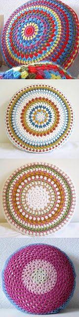 Gorgeous Granny Circle cushions