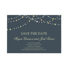 String Of Lights Save The Date Invitation