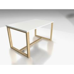 coffee table inspired by our popular desk model DES3. Solid pine legs+melamine top+very good price :)