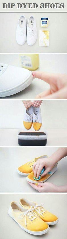 Dip Dyed Shoes Idea