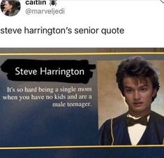 steve from Stranger things senior quote funny Stranger Things Have Happened, Stranger Things Funny, Stranger Things Steve, Film Manga, Sherlock, Stranger Danger, Joe Keery, Def Not, Senior Quotes