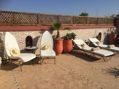 The gorgeous roof top terrace in my Airbnb Riad, Marrakech, Morocco.