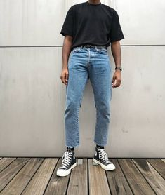 streetwear fashion JamesDeBruges on Insta - fashion Retro Outfits, Mode Outfits, Grunge Outfits, Fashion Outfits, Vintage Outfits, Stylish Mens Outfits, Casual Outfits, Jean Chino, Converse Outfits