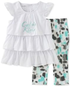 Calvin Klein Baby Girls' 2-Piece Ruffle Tunic