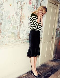 Flirty Pencil WG502 Mid Length Skirts at Boden