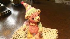 Artist crochet teddy bear.  See on Etsy, SweetHeartThreads