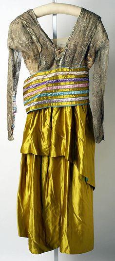 Evening dress  Lucile (British, 1863–1935)  Date: 1914–16 Culture: British Medium: silk