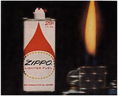 Detail from 1962 Advertisement for Zippo Lighter Fuel