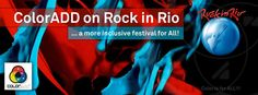 "ColorADD on ROCK IN RIO 2016 ""Rock in Rio embrasses the ColorADD code, an innovative and universal good practice in accessibilities... Because color is an important communication element, Rock in Rio tickets (and other supports) include the ColorADD code, so that All, without exception, may identify the days of Rock also through Color.""  ‪#‎coloradd‬ ‪#‎rockinrio‬ ‪#‎colorisforall‬ ‪#‎designforall‬ ‪#‎acoréparatodos‬‪#‎socialimpact‬ ‪#‎innovation‬ ‪#‎inovação‬ ‪#‎social‬"