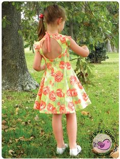 Juliette's Dress - 2 to 10 years - PDF Pattern and Instructions - paneled dress, open back, petticoat, 2 skirt options, vintage inspired
