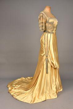 Evening Dress (image 2) | House of Worth | France; Paris | 1910-1912 | silk, prong-set pastes, seeds & bugle beads | Whitaker Auction House | April 2016/Lot 654