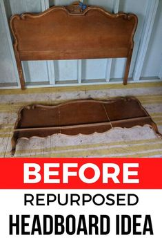 How to Make a Bench from a Headboard DIY Repurposing Check out this thrift store headboard and footboard repurosing idea as a farmhouse bench! this upcycling project is fun and perfect if you're decorating on a budget. Crate Bench, Diy Bench, Bench With Storage, Diy Headboards, Headboard And Footboard, Making A Bench, Diy Furniture, Upcycled Furniture, Painted Furniture