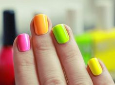 DIY Neon Nails Art: New Year Trend Alert- Neon Nail Art check out www.MyNailPolishObsession.com for more nail art ideas.