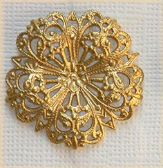 Raw Brass Filigree Ornate Vintage Style by DecadentBrassGlass