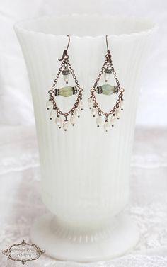 Pearl Chandelier Earrings Bohemian Wedding Earrings