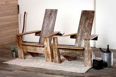 Adirondack chairs by District Millworks