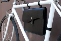 Leather Bicycle Bag. $90.00, via Etsy.