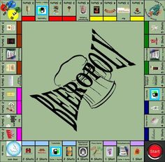 Beeropoly  - 5 Drinking Games for 2 People